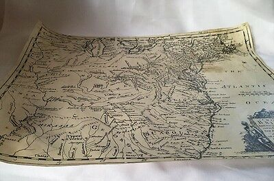 """Eman. Bowen C. 1764 """" A Map Of The British American Plantations"""" New England To"""