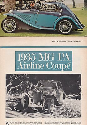 11 LOT Vintage MG Cars Pre-WWII Automobile Magazine Articles, 9 UK & 2 USA Issue