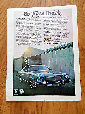 1975 Buick Regal Coupe Ad   Go Fly a Buick