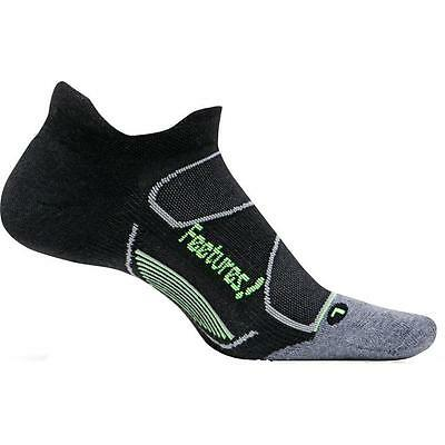 Feetures Elite Max Cushion No Show Tab XL Socks Black/Reflector 3 Pairs Closeout