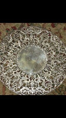 16.2 oz t Sterling Silver Cake Stand Mythological Creatures By JE Caldwell