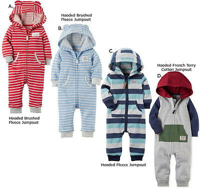 Carter's Baby Boy One Piece Jumpsuit Fall Winter Clothes NB 3 6 9 12 18 24 Month