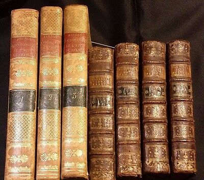 Lot of 7 - History of the France & History of the Throne of England - 1765/1821