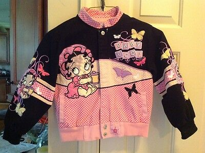 Betty Boop Authentic Baby Boop Jacket Girls Size S 5-6 ADORABLE!