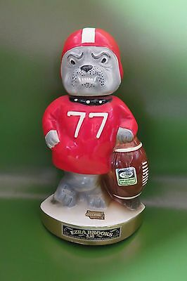 Vintage Georgia Bulldogs Football Decanter 1971 Ezra Heritage China