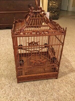 Very Nice Decorative Wooden Hanging Bird Cage