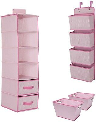 Delta Children Complete Nursery Organization 3-Piece Set, Barely Pink