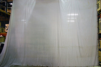 6M x 4M White Filled-Cloth Cotton Cyclorama - Flat