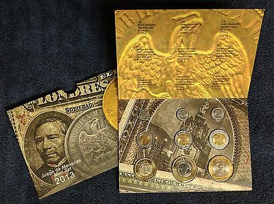 Mexico 2013 Bank of Mexico 9 coins mint set Brilliant UNC., in original display.