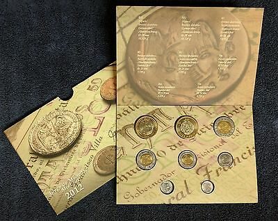Mexico 2012 Bank of Mexico 8 coins mint set Brilliant UNC., in original display.
