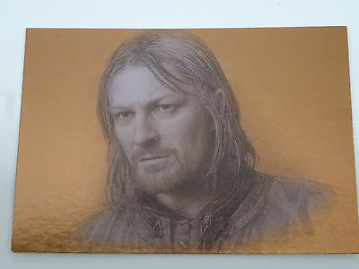 """Lord of the Rings Topps Masterpiece Series 1 Bronze Foil Card """"Boromir"""" #9 of 9"""