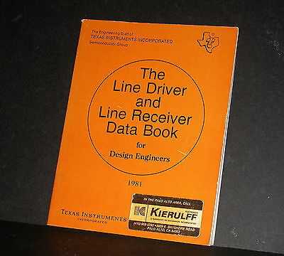 TI Texas Instruments Line Driver and Line Receiver Data Book Databook 1981