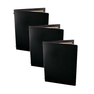 20x Deluxe Tuscan Leather Menu, Black A5 w 2 Pockets, Restaurant / Cafe Menus