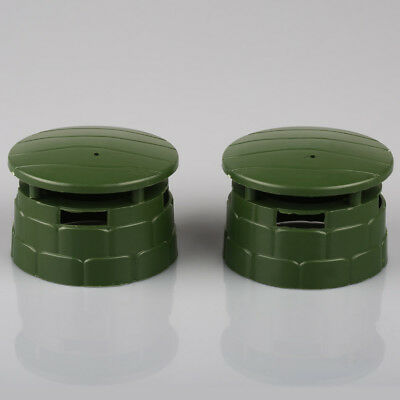 2 x Military Round Bunker Blockhouse Plastic Toy Soldier Army Men Accessories