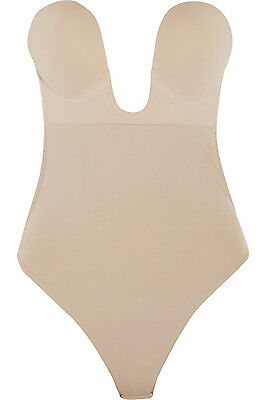 New Fashion Forms U Plunge Backless Strapless Bodysuit in Nude