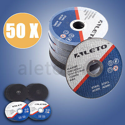 "4.5"" THIN METAL CUTTING BLADE DISC 50 x 115m FOR STEEL & STAINLESS FOR GRINDER"