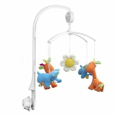 4Pcs Baby KIds Crib Mobile Bed Bell Toy Holder Bracket + Wind-up Music Box Gift