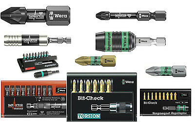 Wera Screwdriver Bits High Quality Pz Sizes Impact Torsion Phillips + More Rdg