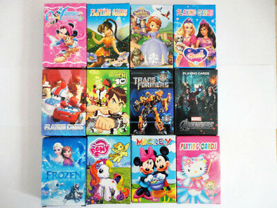 Children Disney Sofia Barbie Princess Mickey Frozen My Little Pony Playing Cards