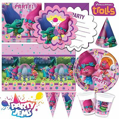 Dreamworks Trolls Party Children's Birthday Tableware Decorations