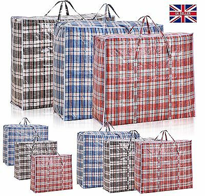 Jumbo Zipped Reusable Laundry Bags Large Strong Shopping / Storage Bag UK SELLER