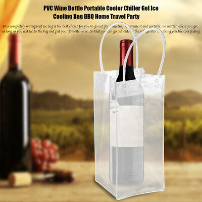 Wine Bottle Cooler Bag Ice Gel Picnic Drinks Carrier Portable Lunch Chiller AF