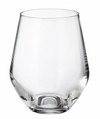 "Bohemia Crystal ""Michelle"" Stemless Crystal Wine Glasses (box of 6)11.80oz 350ml"