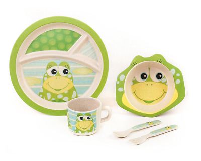 BAMBOO KIDS Meal Set | Plate Set | Toddler Dinner Set | Eco-Friendly Bamboo Dish