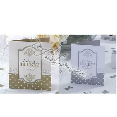 10 Lottery Ticket Scratch Card Holder Lotto Wedding Favours Chic Boutique Design