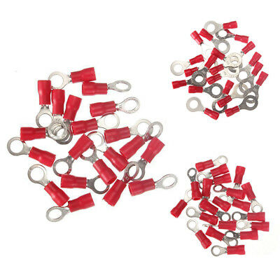 20pcs Ring Ground Insulated Wire Connector Electrical Crimp Terminal 18-22AWG T7