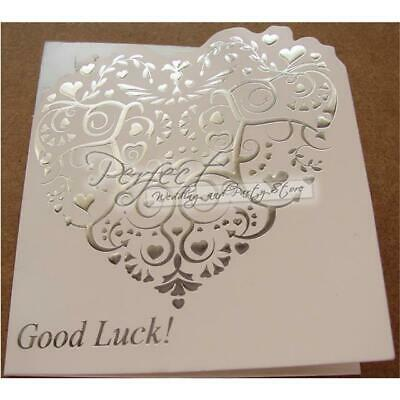 10 Lottery Ticket Scratch Card Holders Lotto Wedding Vintage Foil Embossed
