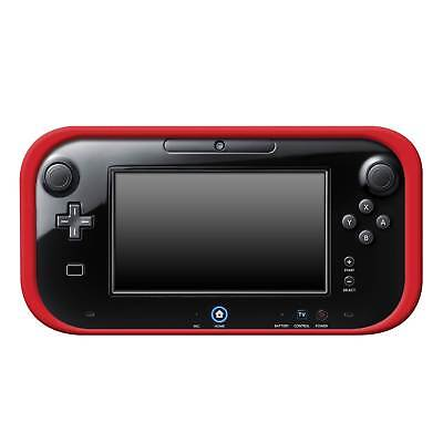 Wii U RED SILICONE SOFT COVER RUBBER GEL SKIN CASE FOR NINTENDO Wii U