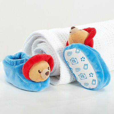 Paddington Bear Baby Boots Shoes Booties Chime Rattle Soft Newborn Gift