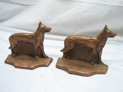 Cast Iron Shepherd Bookends Hound Retriever Hunting Canine Vintage Greyhound
