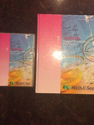 Math U See DELTA, sTUDENT BOOK, Instruction Manual (2004) DVD; Test Booklet