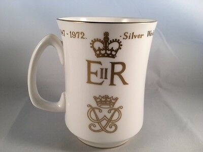 Crown Staffordshire Limited Edition Cup Queen Elizabeth II Silver Wedding 1972