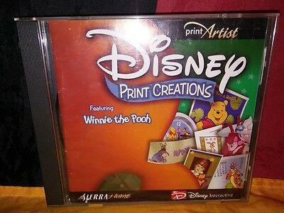 Disney Print Creations Featuring Winnie the Pooh PC CD-ROM