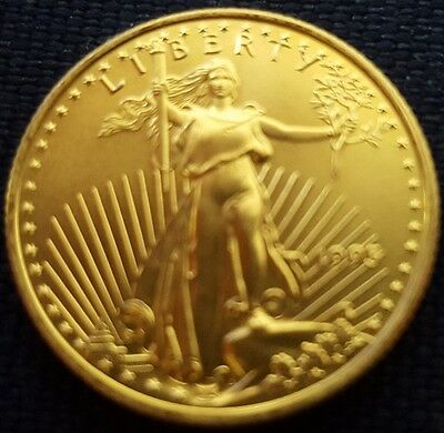 """Mds Usa 10 Dollars 1995 """"american Gold Eagle"""", 1/4 Unze Feingold"""