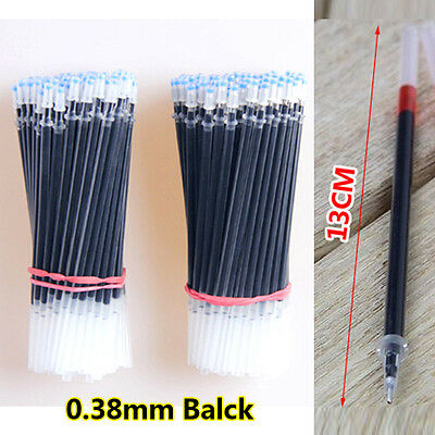 Stationery School New 10pcs Replacement Pen Refills 0.38mm Black Color Refill