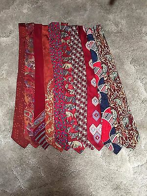 Vintage Neck Ties Lot Red Toned