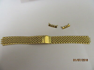 Genuine Oris Watch Bracelet 71840 With End pieces For 7460 Gold Plated