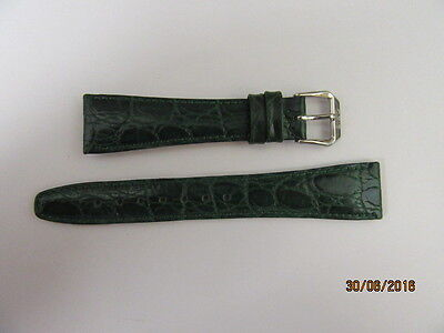 Genuine Oris Leather Watch Strap 5/6 1909 For 19mm Fitting Green Croc