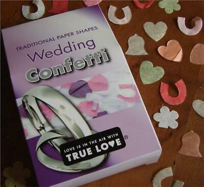 3 Boxes Of Traditional Wedding Throwing Confetti Horseshoe Hearts Flower Bell