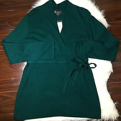 Oh Baby By Motherhood Maternity Green Sweater Empire Tie NWT XL 16/18
