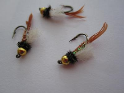 NYMPHS **AWESOME 1 DZ D-9 BEAD HEAD FLASHBACK SCUD/'S SIZES /& COLOR/'S