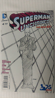 Superman Unchained #4 - 1:300 Variant! VF/NM - Jim Lee Sketch Cover Variant!