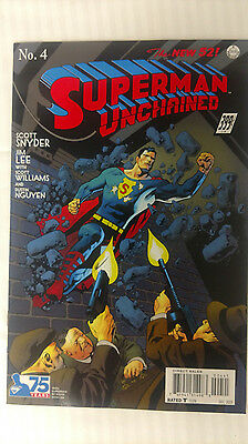 Superman Unchained #4 - 1:100 Variant! VF/NM - Kevin Nowlan Cover Variant!