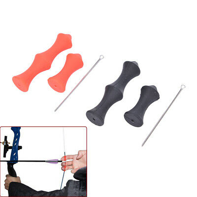 Archery Silicone Finger Guard No Glove Recurve Bow Shooting Hunting Protector LA