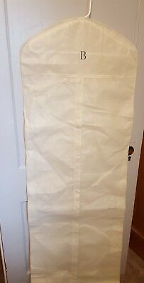 Ivory Breathable Wedding Gown Prom Dress Garment Bag Extra Long