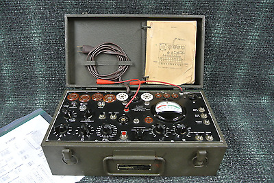 Signal Corps Tube Tester I-177-B Restored And Certified Excellent Condition !